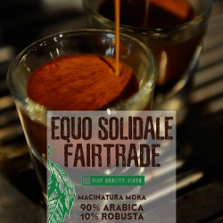 Equo solidale - 250g. Macinatura Moka - 90%Arabica 10%Robusta - High quality blend