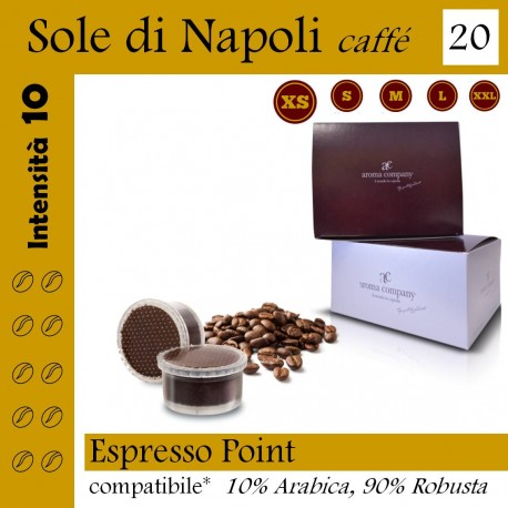 box 20 Espresso point compatibili, Sole di Napoli coffee Aroma Company