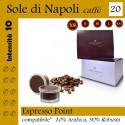 20 capsule Espresso Point compatibili*, caffè Sole di Napoli