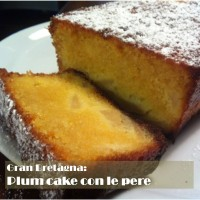 Britain: Plum Cake with pears