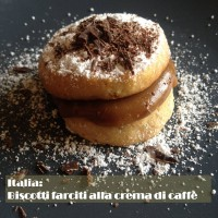 Italy: sandwich biscuits with coffee cream