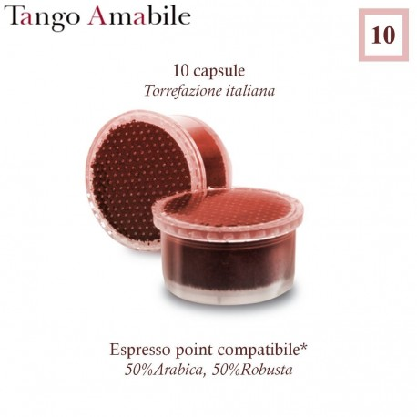 AMATABLE TANGO Espresso Point compatible * 10 coffee capsules