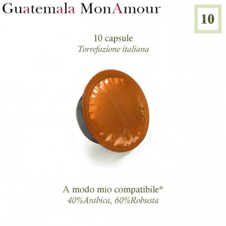 10 capsule di caffè Guatemala Mon Amour A Modo Mio compatibili