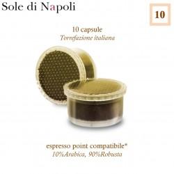 Mit SOLE DI NAPOLI Espresso Point kompatible * 10 Kaffeekapseln