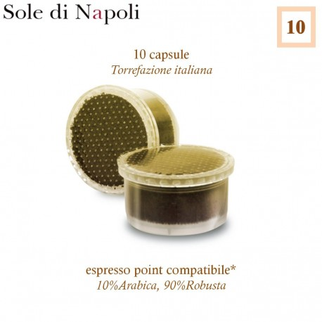SOLE DI NAPOLI Espresso Point compatible * 10 coffee capsules