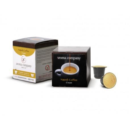 Capsule Napoli Coffee Cream Nespresso* autoprotette compatibili caffè di alta qualità conf. 12pz