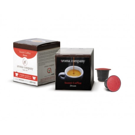 Capsule Sweet Coffee Dream Nespresso* autoprotette compatibili caffè di alta qualità conf. 12pz