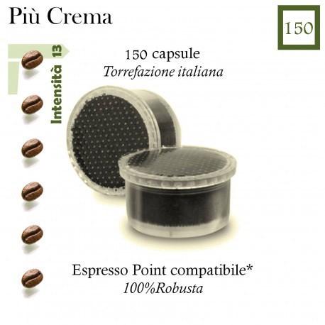 Più Crema Kaffee conf. von 120 Kapseln (Espresso Point kompatibel *)