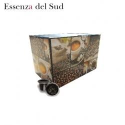 Confezione da 100 capsule Nespresso compatibili di caffè Essenza del Sud