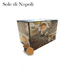 Confezione da 100 capsule Nespresso compatibili di caffè Sole di Napoli