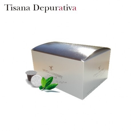 Confezione da 25 capsule Nespresso compatibili di Tisana depurativa