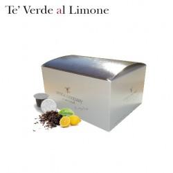 Confezione da 25 capsule Nespresso compatibili di Tè verde al limone