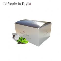 Confezione da 25 capsule Nespresso compatibili di Tè verde in foglia