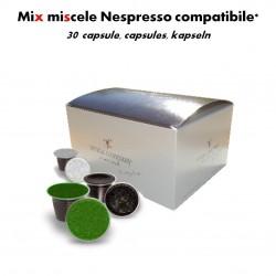 Mix caffè 30 capsule compatibili Nespresso*