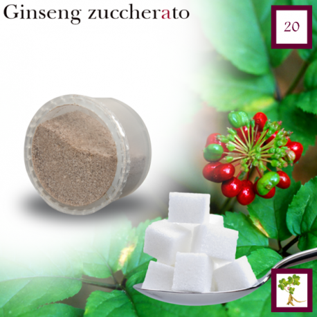 Espresso Ginseng Sweetened package 20 capsules (Espresso Point compatible*)
