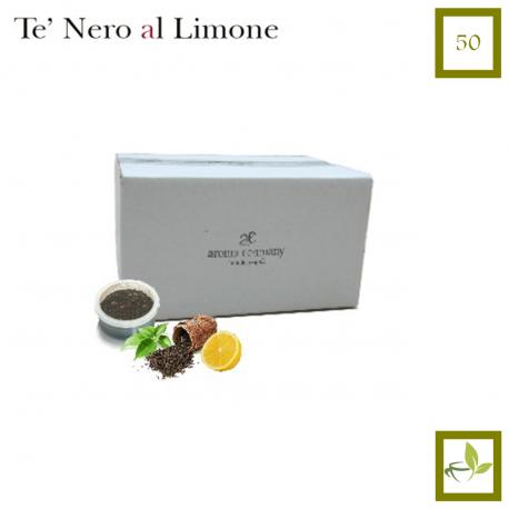 Maxi 50 Stück-schwarz Tee mit Zitrone (Espresso Point kompatibel *)