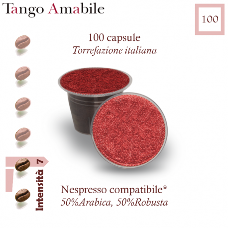 Coffee Tango Amabile, 100 capsules (Nespresso compatible*)