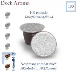 100 capsule Deck Aroma caffè, Nespresso compatibili*