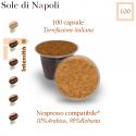 100 capsule Sole di Napoli caffè, Nespresso compatibili*