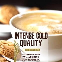 Intense Gold Quality - 250g. Macinatura Moka - 70%Arabica 30%Robusta - High quality blend