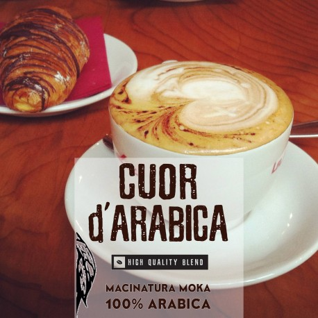 Cuor D'Arabica - 250g. Macinatura Moka - 100%Arabica - High quality blend