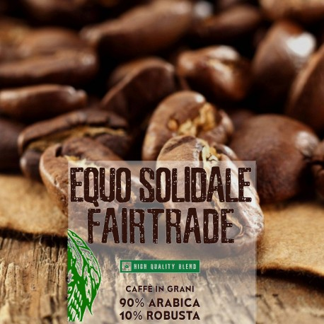 Equo solidale - 1000g. torrefatto in grani - 90%Arabica 10%Robusta - High quality blend