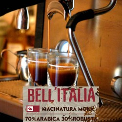 Bell'Italia - 250g. Macinatura Moka - 70%Arabica, 30%Robusta - Selected high quality blend