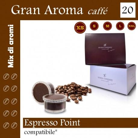 """box 20 Espresso Point compatibili, """"Gran Aroma"""" coffee Aroma Company"""