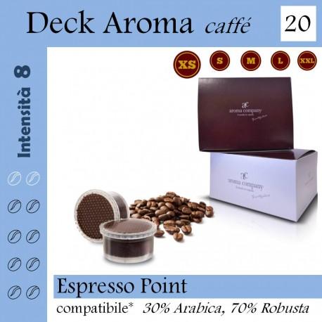 Confezione da 15 capsule Espresso Point compatibili di caffè Deck Aroma