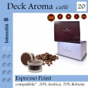 Decaf, 20 coffee capsules package (Lavazza Espresso Point compatible*)