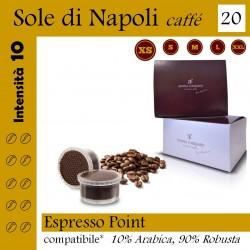 Confezione da 15 capsule Espresso Point compatibili di caffè Sole di Napoli