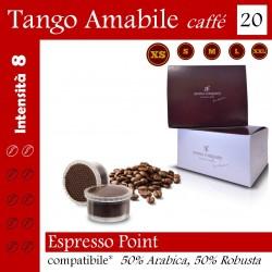 20 capsule Espresso Point compatibili*, caffè Tango Amabile