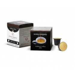 Arabica Kaffeekapseln Nespresso* kompatibler, selbstgeschützter Kaffeekonfekt von hoher Qualität. 12pz