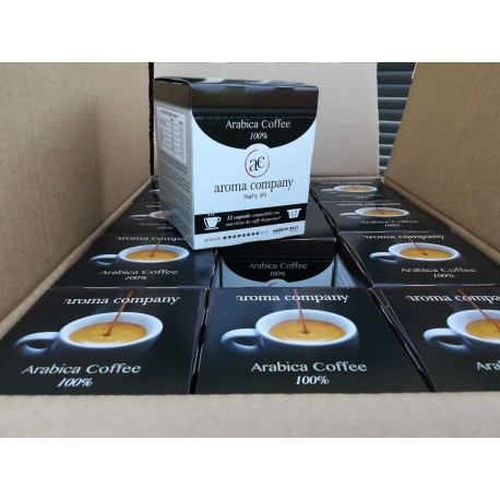 Capsule Arabica coffee Nespresso* autoprotette compatibili caffè di alta qualità Aroma Company