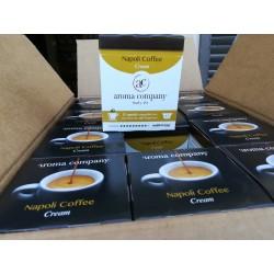 144 Capsule Napoli Coffee Cream coffee Nespresso* autoprotette compatibili caffè di alta qualità.