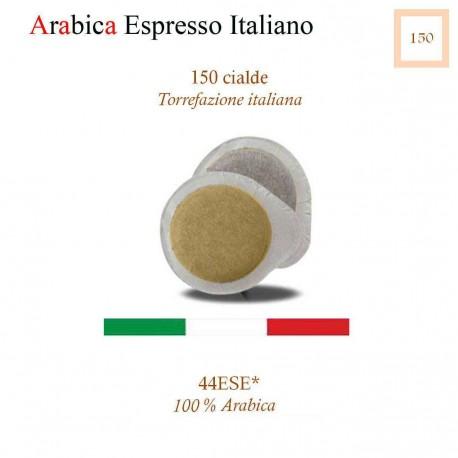 150 Cialde caffè in carta, Sole di Napoli (ESE 44 mm.)