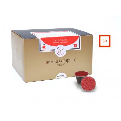 Confezione da 25 capsule Nespresso compatibili di caffè Tango Amabile