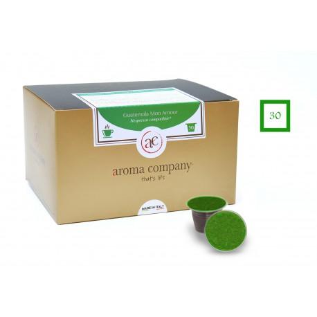 Confezione da 25 capsule Nespresso compatibili di caffè Guatemala Mon Amour