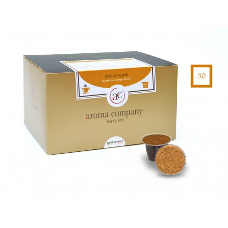 Confezione da 25 capsule Nespresso compatibili di caffè Sole di Napoli