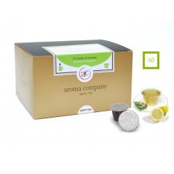 Grüner Tee Zitrone-Blatt, 25 Kapseln (Nespresso kompatibel*)