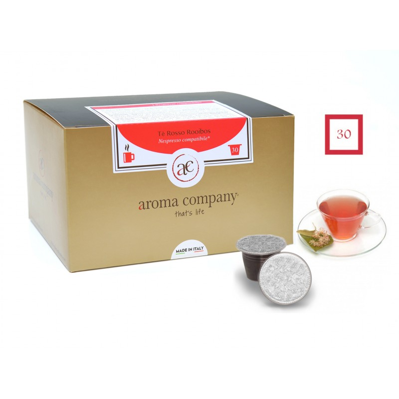Red Rooibos Tee 30 Kapseln Nespresso Kompatibel Aroma Company