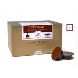 CHOCOLATE - 30 capsules - Soluble product - (A Modo Mio compatible *)