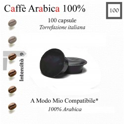 100 capsule caffè Arabica 100 %  A Modo Mio compatibili*