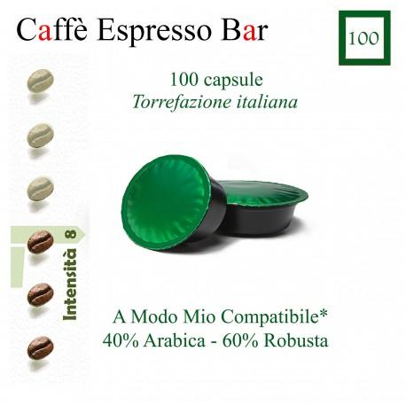 Caffè Espresso Bar conf. da 100 caps. (A Modo Mio compatibile*)