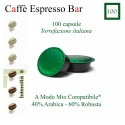 100 kompatible Espresso Bar A Modo Mio Kaffeekapseln *