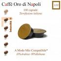 100 capsule A Modo Mio compatibili*, caffè Oro di Napoli