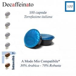 Caffè Decaffeinato conf. da 100 caps. (A Modo Mio compatibile*)