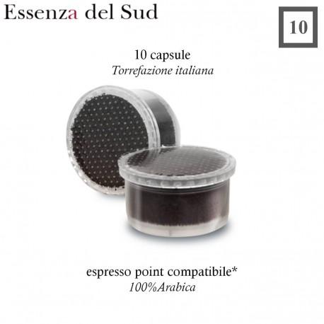 10 capsule di caffè Essenza del Sud Espresso Point compatibili
